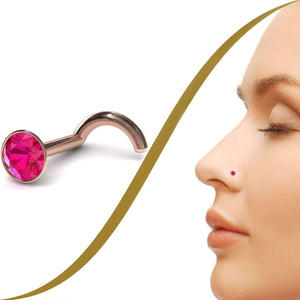 Ruballite Nose Pin - BMG Body Jewellery