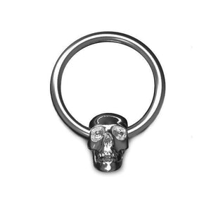 1.6mm Gauge Skull Captive Bead Ring - BMG Body Jewellery