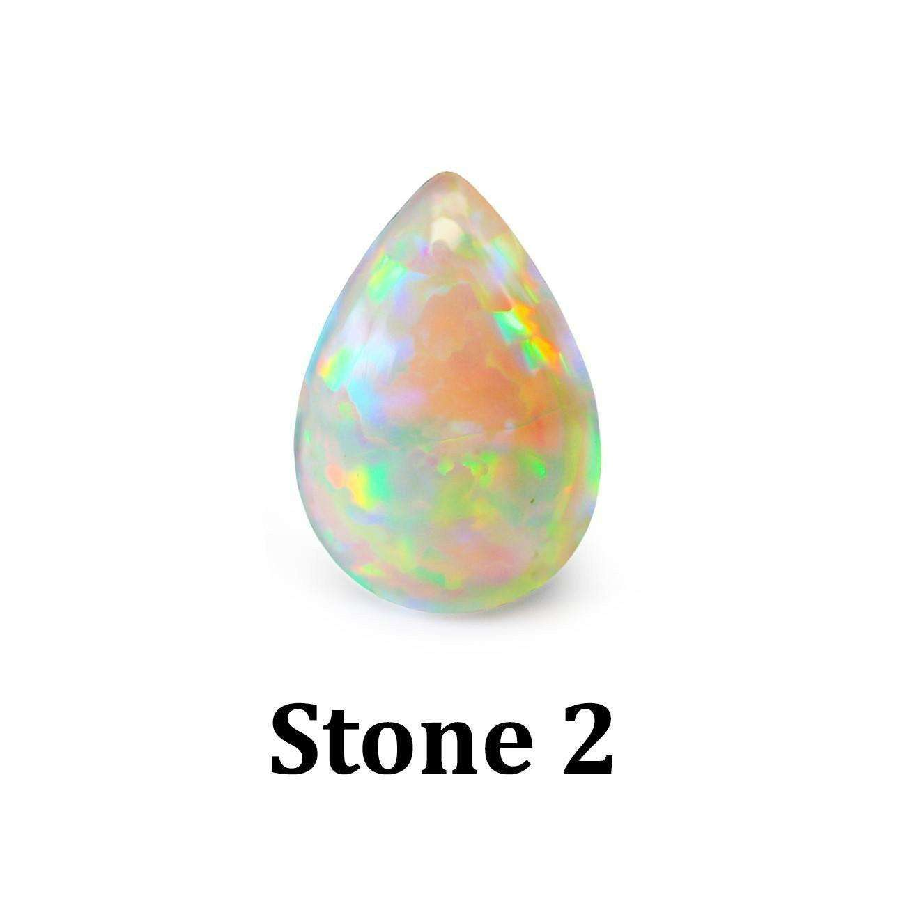 Opal Belly Bar - Choose Your Stone - BMG Body Jewellery