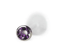 Bioflex Labret with Push-In Gemstones - BMG Body Jewellery