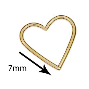 Heart Shape Daith Ring - LATEST - BMG Body Jewellery
