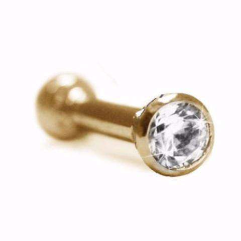 Diamond Ear Pin with 10pt Diamond (3mm)