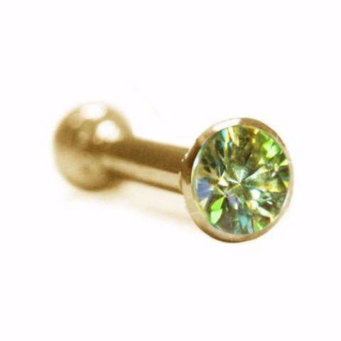 Ear Pin with Demantoid Garnet Gemstone