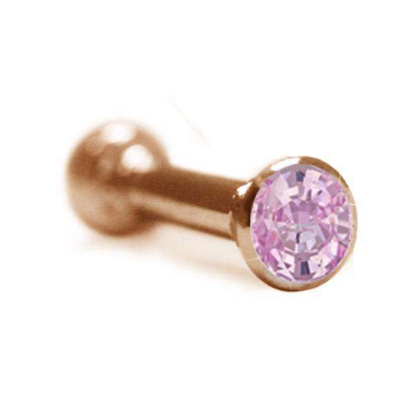 Helix Piercing Stud with Pink Sapphire - BMG Body Jewellery