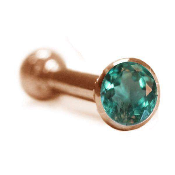 Top Ear Piercing Stud with Alexandrite - BMG Body Jewellery