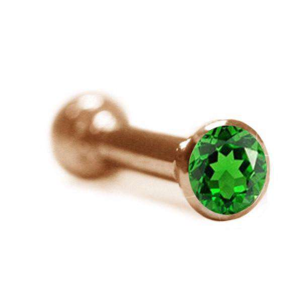 Tsavorite Ear Piercing Stud - BMG Body Jewellery