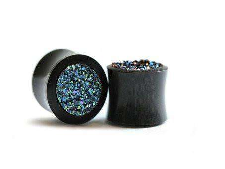 Featured Product - Colour Changing Druzy Agate Plugs - BMG Body Jewellery