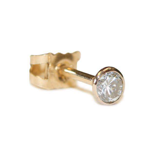 Diamond and 18ct Gold Earrings - BMG Body Jewellery
