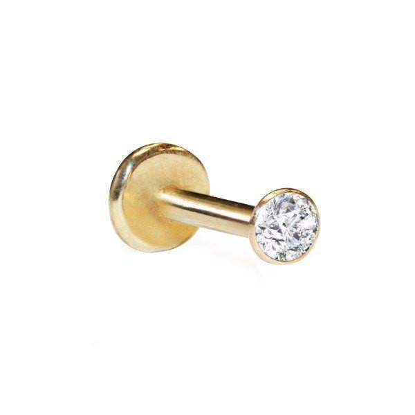 Diamond Labret Stud with 3pt Diamond