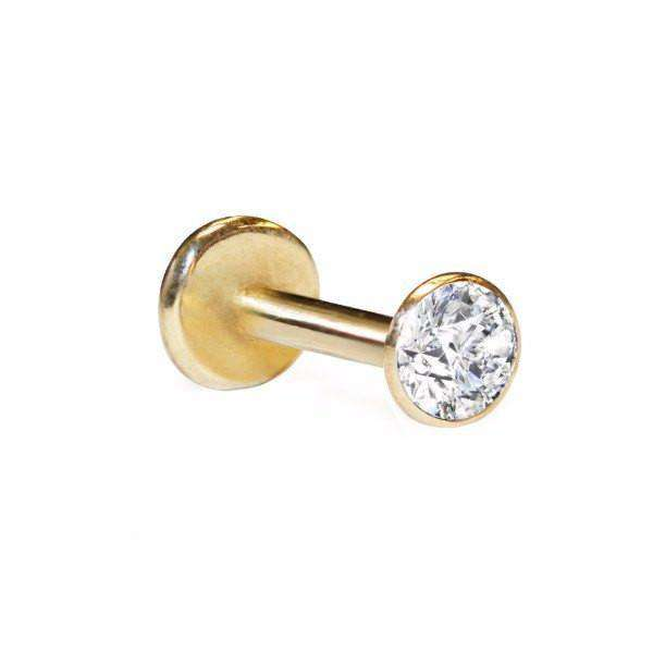 Diamond Labret Stud with 6pt Diamond - BMG Body Jewellery