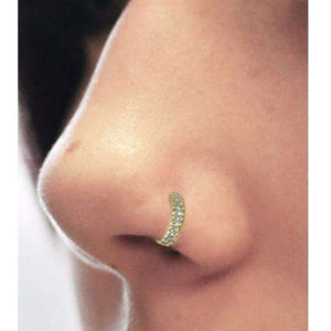 Multi Diamond Nose Cuff - BMG Body Jewellery