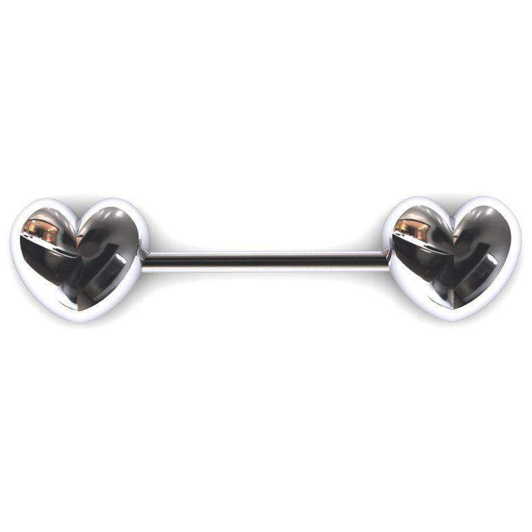 Heart Nipple Bar - BMG Body Jewellery