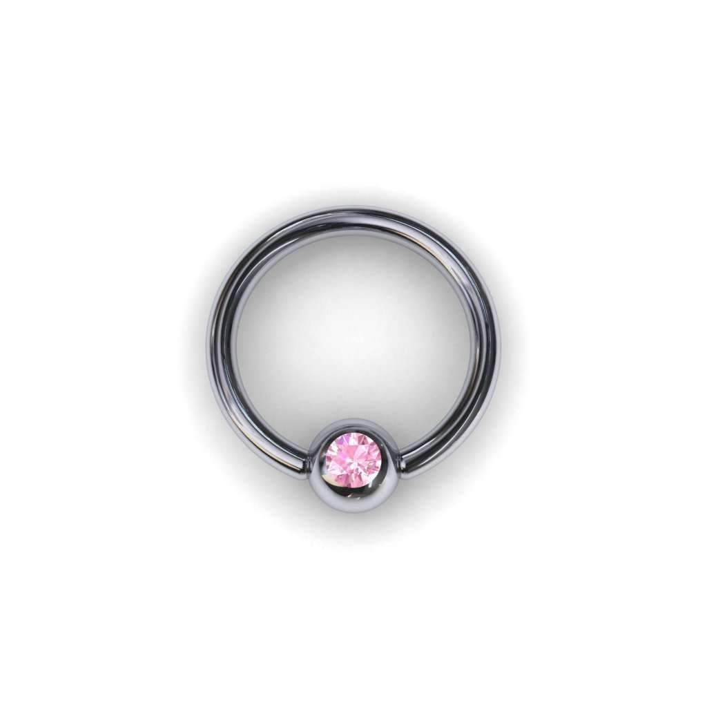 Pink Sapphire BCR with 3mm Ball - BMG Body Jewellery