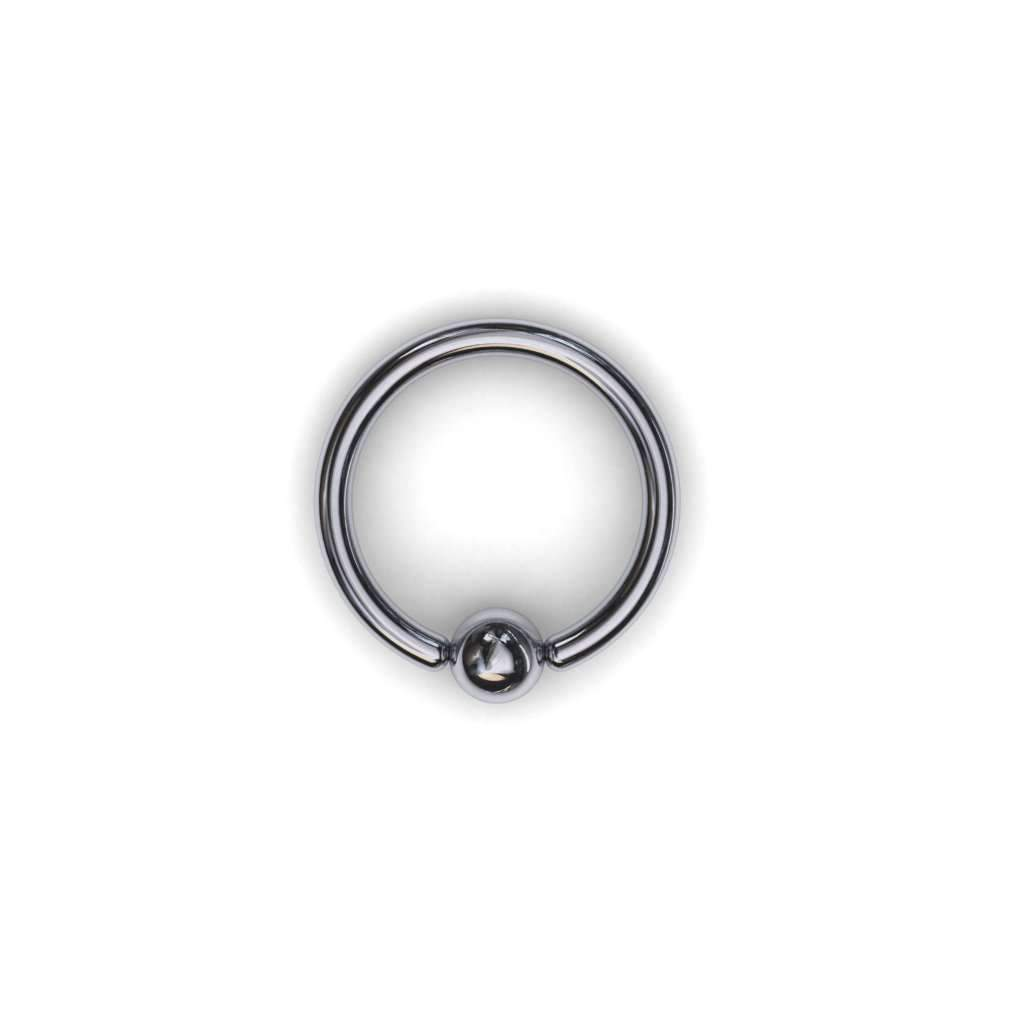 Gold Piercing Ring with 3mm Ball - BMG Body Jewellery