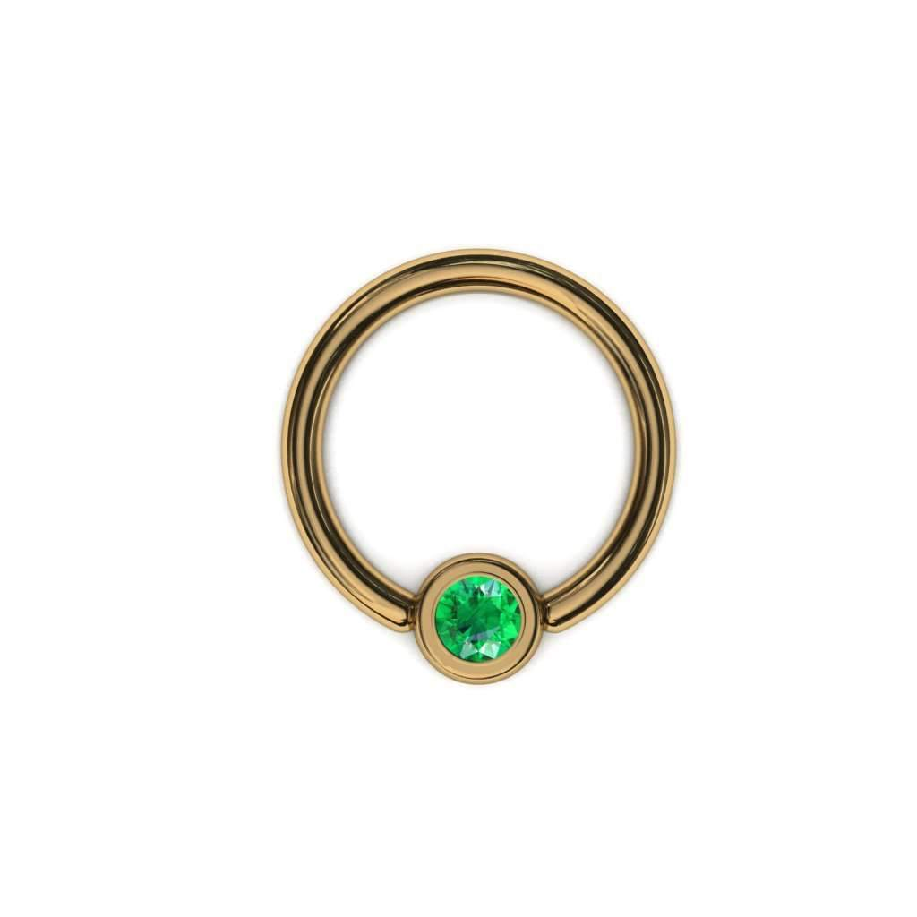 Emerald Daith Piercing Jewellery (3mm) - BMG Body Jewellery