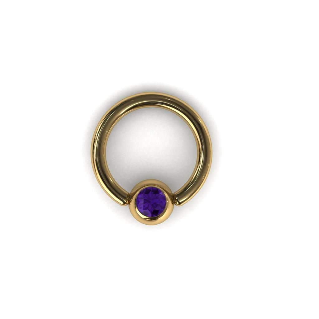 Amethyst BCR with 4mm Ball - BMG Body Jewellery