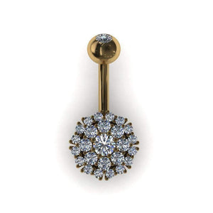 Large Cluster Belly Bar - BMG Body Jewellery