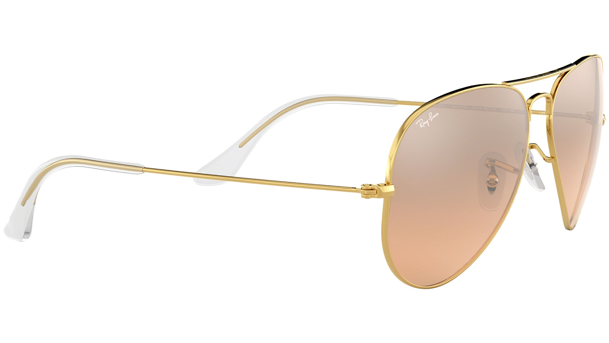 Aviator Gradient RB3025 gold metal pink