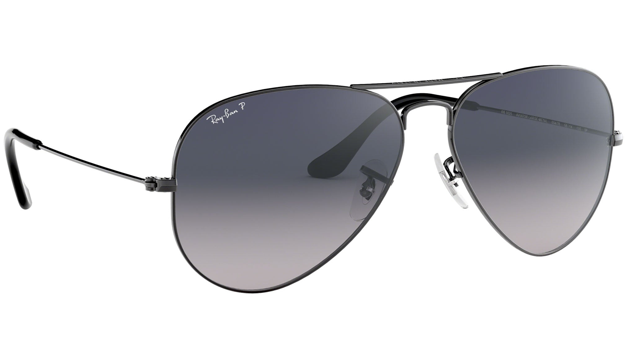 Aviator Gradient RB3025 polished gunmetal