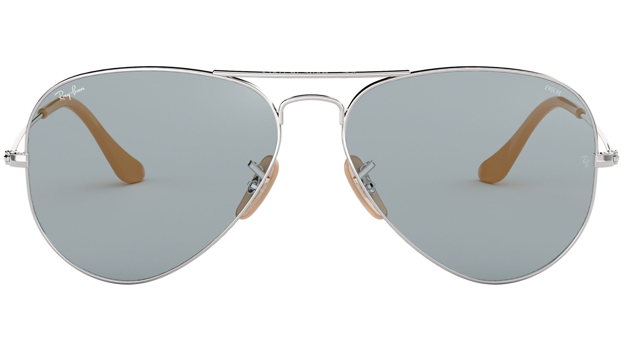 Aviator Washed Evolve RB3025 silver and blue