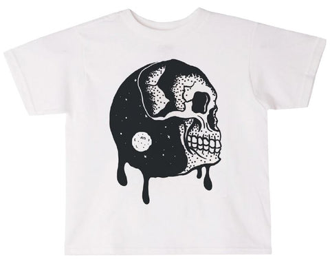 Drippy Moon Tee - White
