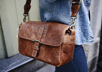 ONA The Bowery Camera Bag - Antique Cognac