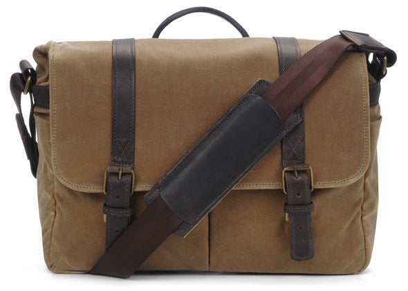 ONA Brixton Camera and Laptop Messenger Bag, Tan