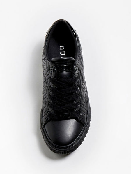 Guess Golden Quilted Logo Sneaker Black