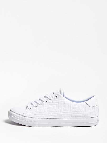 Guess Golden Quilted Logo Sneaker White