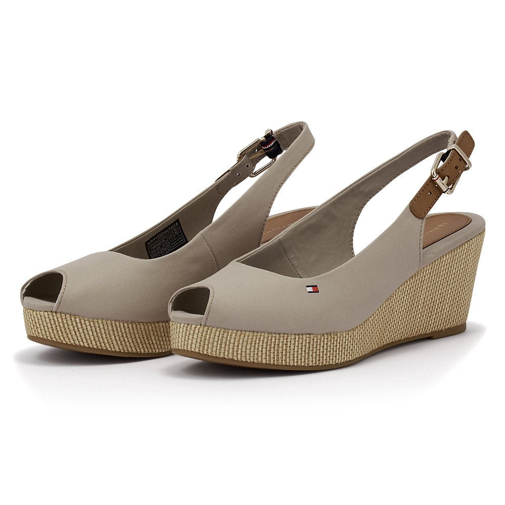 Tommy Hilfiger Slingback Wedge Stone - FW0FW04788