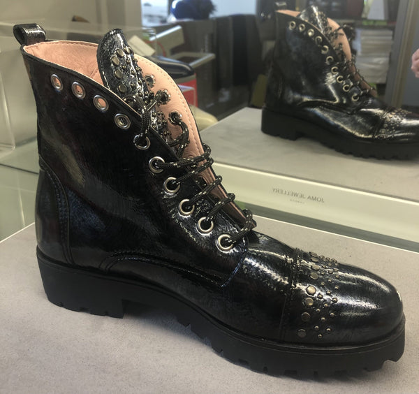 Jose Saenz Military Style Navy Boot