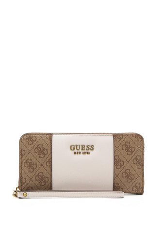 GUESS Mika Large ziparound wallet brown/nude