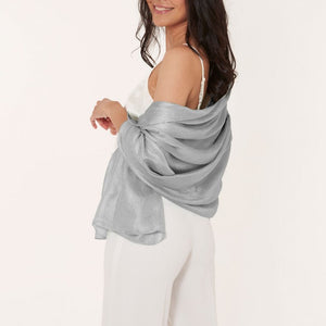 WRAPPED UP IN LOVE BOXED SCARF | PALE GREY