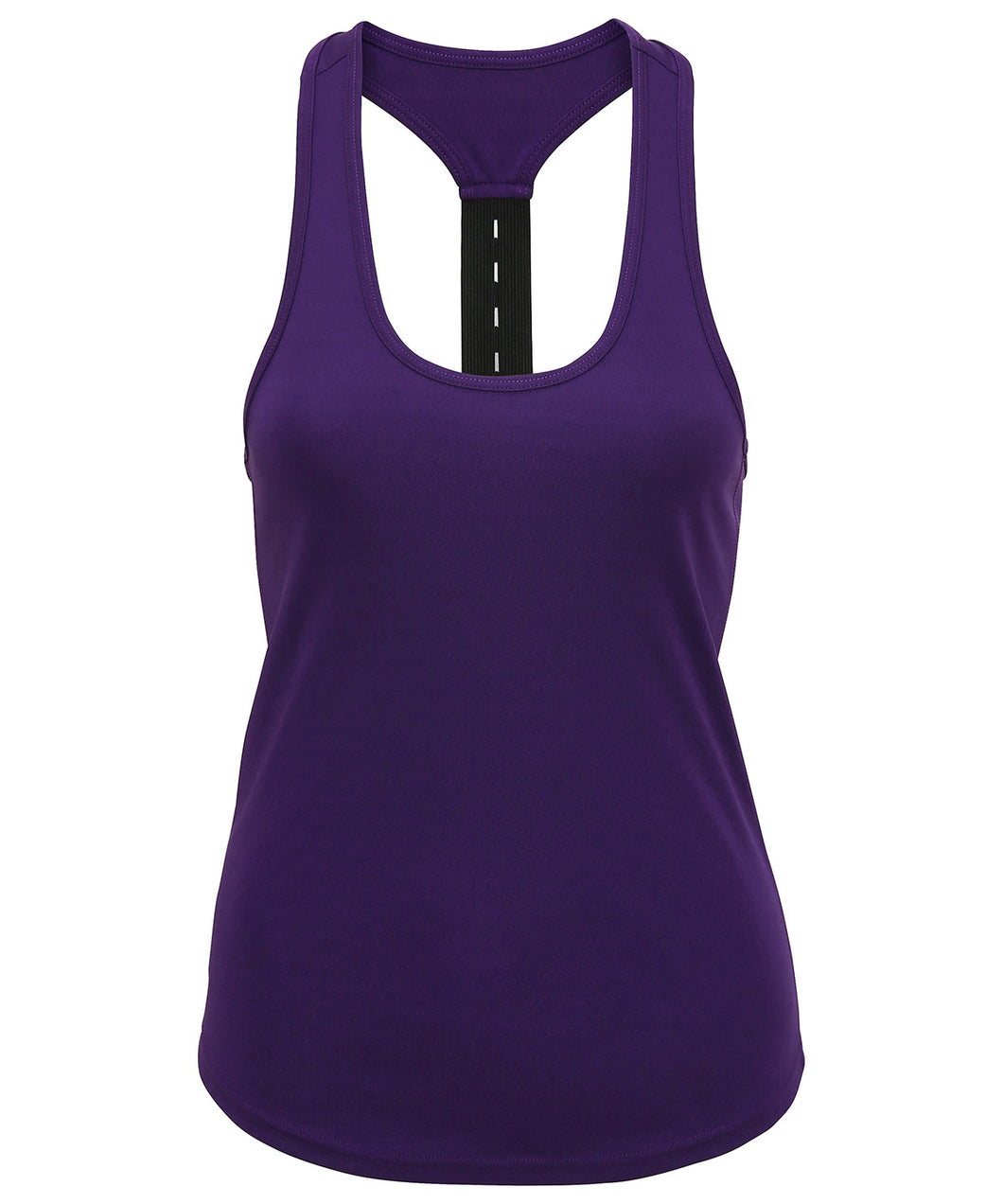 Women's performance strap back vest available in 9 colours