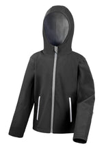 Load image into Gallery viewer, Children's Hooded Softshell Jacket