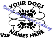 Load image into Gallery viewer, DOG RELATED - BACK OF GARMENT STOCK DESIGNS VINYL
