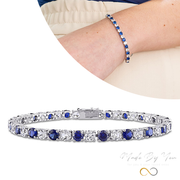 Blue & White Sapphire Bracelet - MADE-BY-YOU (JEWELRY)