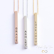 3D Bar Necklace - MADE-BY-YOU (JEWELRY)