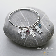 Bangle Bracelet with Kids Charms - MADE-BY-YOU (JEWELRY)