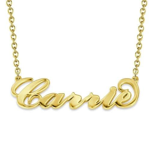 """Carrie"" Font Style Name Necklace - MADE-BY-YOU (JEWELRY)"