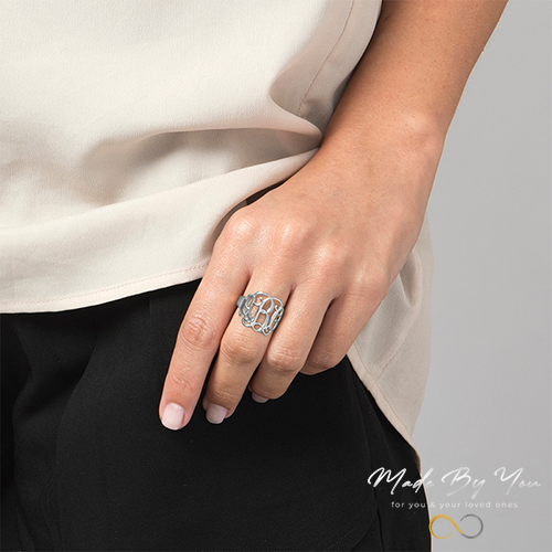 Monogram Ring - MADE-BY-YOU (JEWELRY)