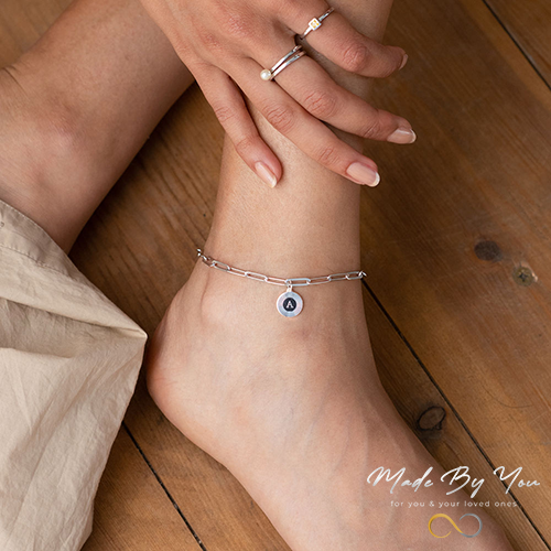 Odeion Initial Link Chain Bracelet / Anklet - MADE-BY-YOU (JEWELRY)