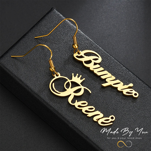 Stainless Steel Name Earring - MADE-BY-YOU (JEWELRY)