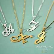 Personalized Initial Pendent Necklace - MADE-BY-YOU (JEWELRY)