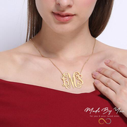 Personalized Monogram Name Necklace - MADE-BY-YOU (JEWELRY)