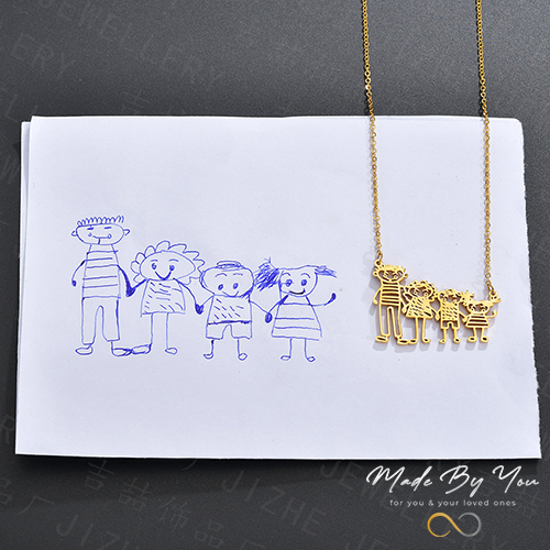 Draw Your Own Necklace- Children's Cartoon Hand Crafted Necklace - MADE-BY-YOU (JEWELRY)