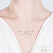 Infinity Heart Beat Name Necklace - MADE-BY-YOU (JEWELRY)