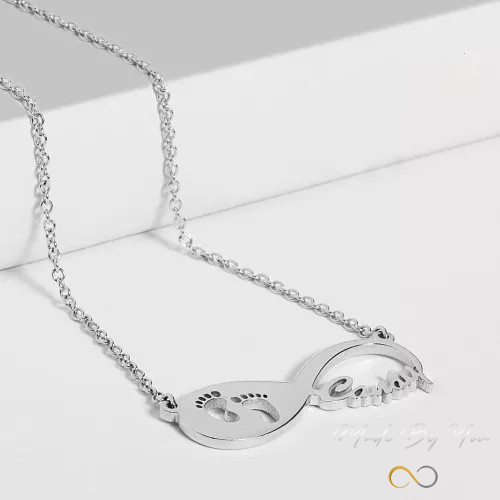 Baby Steps Infinity Name Necklace - MADE-BY-YOU (JEWELRY)
