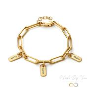 Bracelet with Personal Charms - MADE-BY-YOU (JEWELRY)