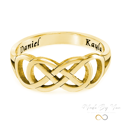 Double Infinity Ring with Inner Engraving - MADE-BY-YOU (JEWELRY)